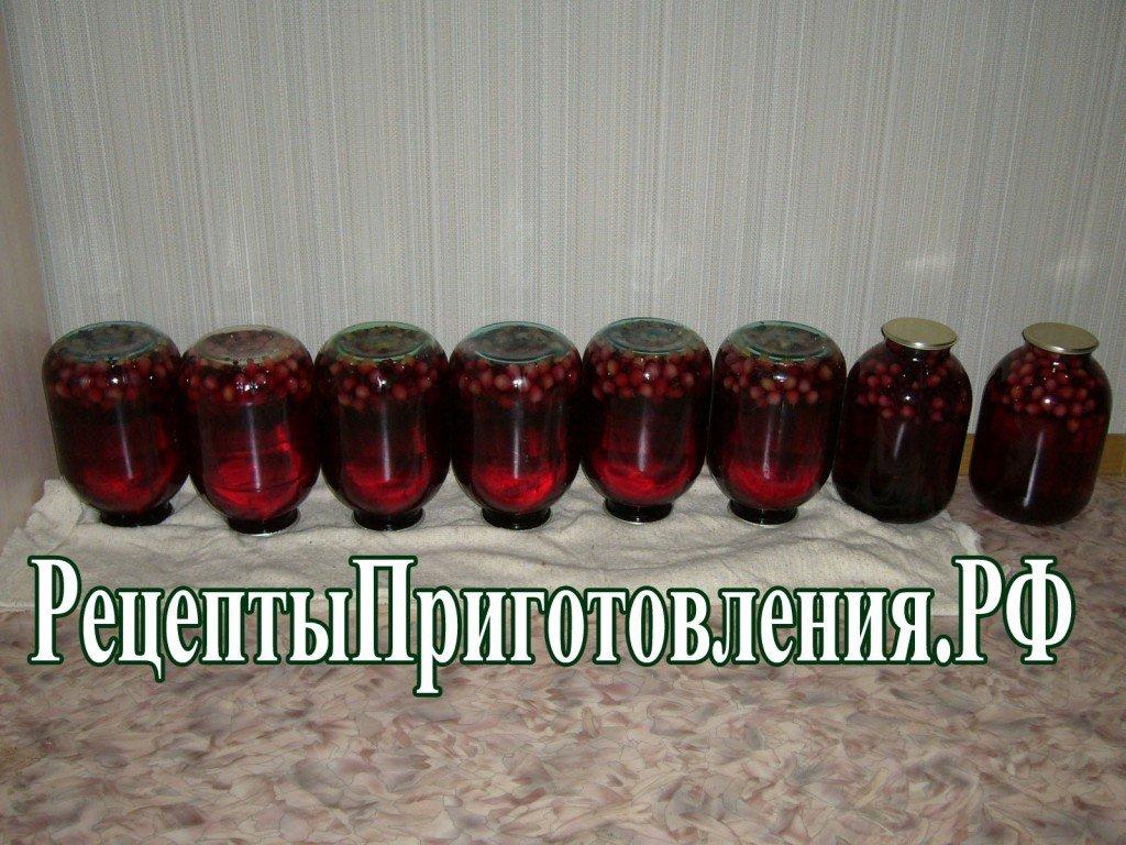 Компот из крыжовника и смородины на зиму - рецепт пошаговый с фото