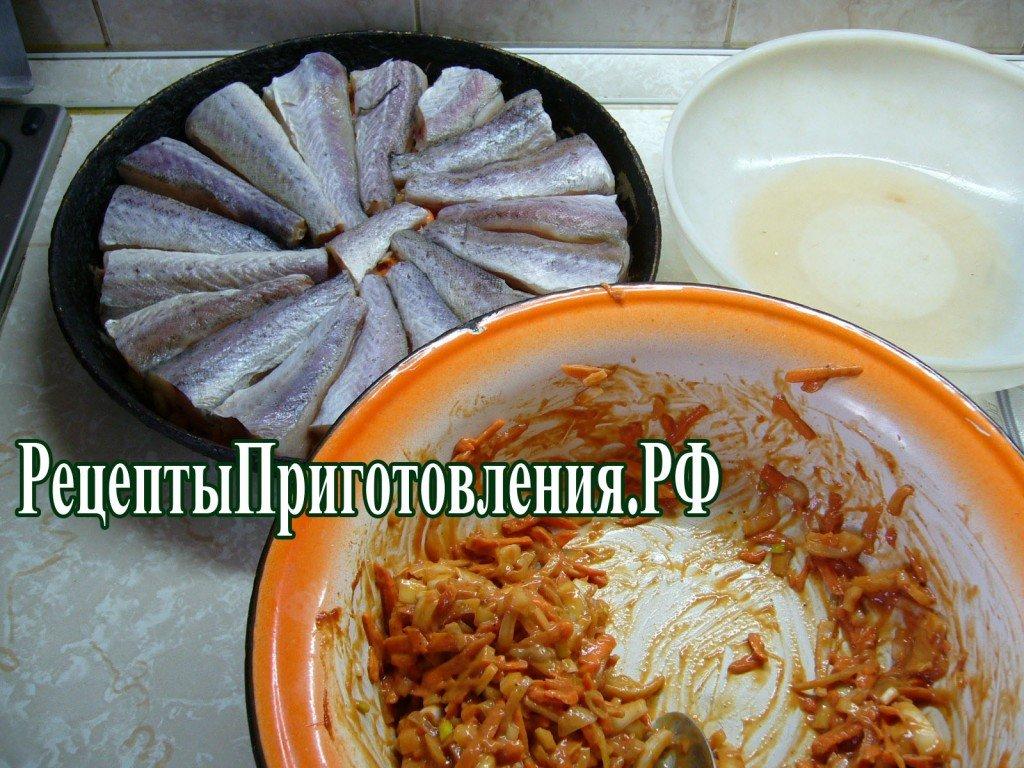 Минтай тушеный рецепт фото пошагово