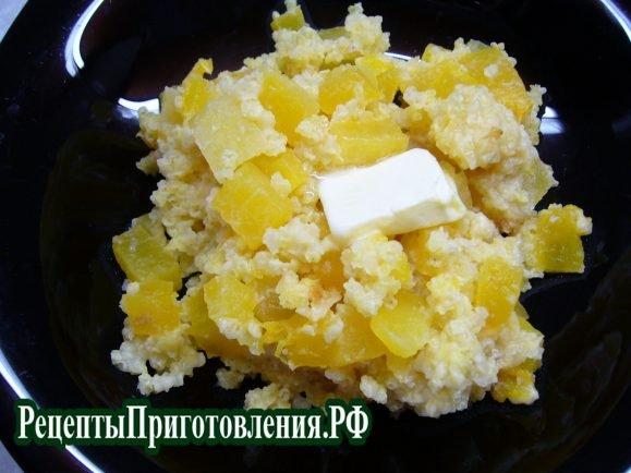 Пшенная каша с тыквой и сухофруктами, пошаговый рецепт с фото