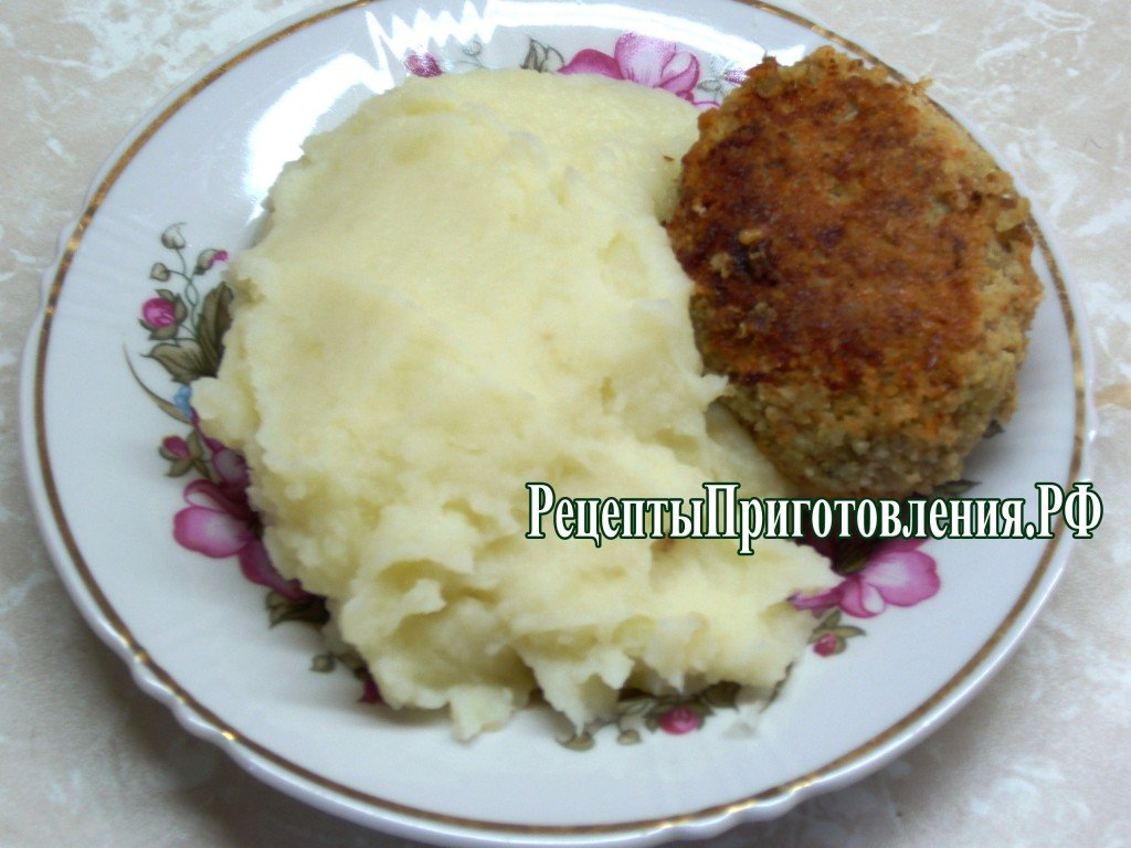 Пюре картофельное рецепт фото без молока
