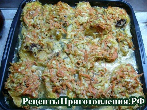 Треска, запеченная в духовке приготовленная по пошаговому рецепту с фото готова