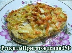 Треска в духовке запеченная с овощами