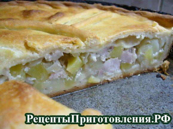 Рецепт курника со свининой картошкой фото
