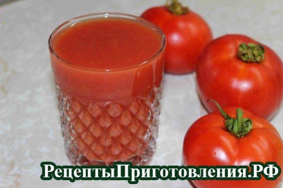 Томатный сок в домашних условиях, рецепт с фото